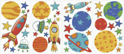 Planets and Rockets RoomMates Vinyl Wall Bedroom 39 Removable Decal Stickers
