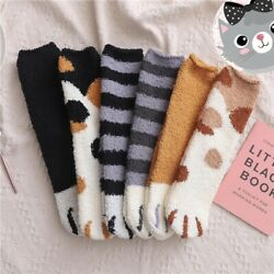 Winter Cat Claws Cute Thick Warm Sleep Floor Socks Funny Paw Xmas Gift