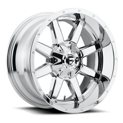 4 20x10 Fuel Chrome Maverick Wheels 5x139.7 And 5x150 For Ford Jeep Toyota Gm