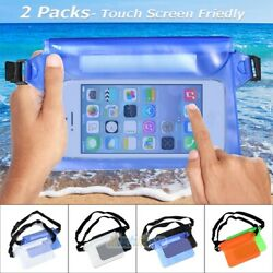 2X Sports Swimming Beach Waterproof Waist Bag Pouch Dry Case Fanny Pack Pocket $9.77