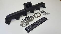 Steed Speed T3 Angled Manifold With Wastegate For 94-98 Dodge Ram 5.9l Cummins