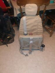 Brand New Military Issue Authentic Humvee Seat Creme Colored W/5 Point Harness