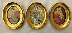 Goldtone Metal 3x4 Picture Prints Mother And Baby Asian Photos