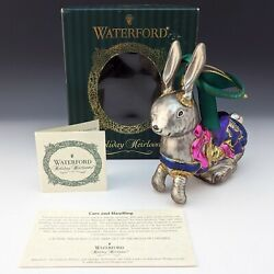 Waterford Crystal Holiday Heirlooms Carousel Bunny Rabbit Ws Private Ornament