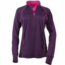 Green Layer reen Layer Women's Evolution Half-Zip LS Tee  Athletic   Outerwear