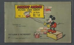1935 V303 O-pee-chee Mickey Mouse First Series 1-48 Empty Album