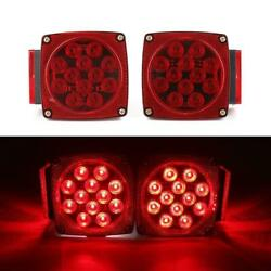 1 Pair Rear Led Submersible Trailer Tail Lights Kit Boat Truck Waterproof