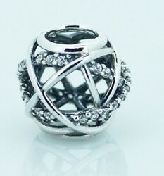 925 Sterling Silver CHARM Galaxy Openwork Bead
