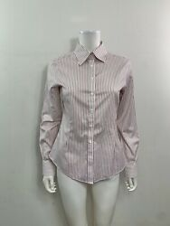 Brooks Brothers Women's Size 4 Tailed Fit Non Iron Long Sleeve Button Dow Shirt