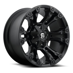4 22x12 Fuel Matte Black Vapor Wheel 5x139.7 And 5x150 For Ford Jeep Toyota Gm