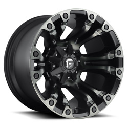 4 20x9 Fuel Black W/ Ddt Vapor Wheel 5x139.7 And 5x150 For Ford Jeep Toyota Gm