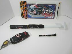 Dale Earnhardt 3 - Car Collectible Lot - Window Flagtire Gaugelicense Plate..