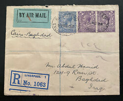 1924 England Via First Flight Cairo Egypt - Bagdad Iraq Early Airmail Cover