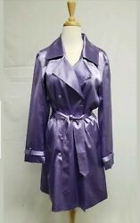 Lilac Satin Trench Coat