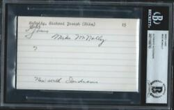 Mike Mcnally D.65 Signed 3x5 Index Card Auto Bas 1923 Ws Champ New York Yankees