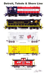 Detroit And Toledo Shore Line 11x17 Poster By Andy Fletcher Signed