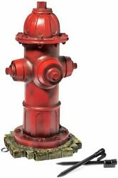 Lulind - Dog Fire Hydrant Garden Statue With 2 Stakes, 14 Inches Small