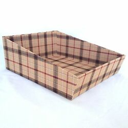 Longaberger Fabric Covered Paper Tray Signature Plaid Fits A Basket