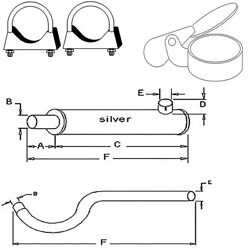 Exhaust Muffler And Pipe For Oliver Tractor Super 55 550