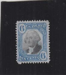 6c Washington 2nd Issue Tax Stamp Sc R108 Used Uncut Very Lt. Canx 31502