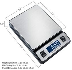 Weighmax W-2809 65 Lb X 0.1 Oz Digital Postal Shipping Scale Ac Adapter Included