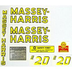 One Tractor Decal Set Fits Massey Harris 20