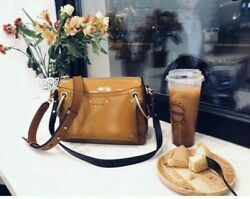 No Offer Small Roy Glossy Shoulder Bag- Brown 2090+tax