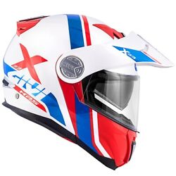 Helmet Givi X33 Canyon Division White Red Blue Motorcycle Opens Modular Advenure