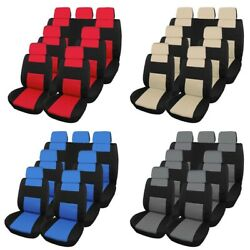 Car Seat Covers For Auto Suv Van Truck Sedan 3 Row 7 Seat Universal Compatible