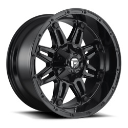 4 20x10 Fuel Gloss Black Hostage Wheels 6x135 6x139.7 For Ford Toyota Jeep
