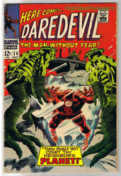 Daredevil 28 Vg+ Planet Gene Colan Without Fear 1964 More Dd In Store