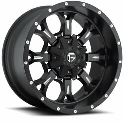 4 17x9 Fuel Matte Black And Mill Krank Wheels 6x135 And 6x139.7 For Toyota Jeep