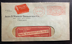 1936 Chicago Il Usa Advertising Window Meter Cancel Cover Oliv Eye Lo