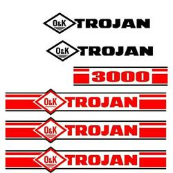 Trojan Wheel Loader 3000 Black And Red Decal Set With O And K Decals