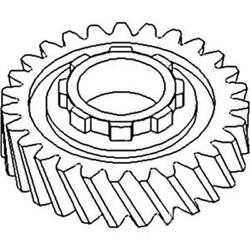 70240940 New 3rd Gear With 27/8 Teeth Fits Allis Chalmers 170 175 D17 D19