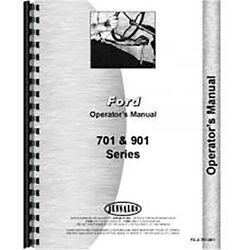New Operators Manual Fits Ford 961 Tractor