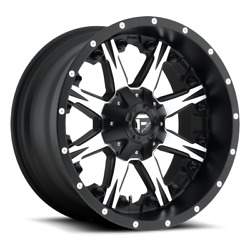 4 22x12 Fuel D541 Black And Machined Nutz Wheels 6x135 6x139.7 For Toyota Jeep