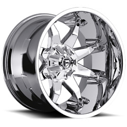 4 20x9 Fuel D508 Chrome Octane Wheels 6x135 6x139.7 For Toyota Jeep