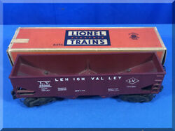 Vintage Lionel Trains O27 Maroon 6456 Lv Lehigh Valley Hopper Freight Car And Box