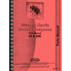 Fits Massey Harris 20 Tractor Parts Manual
