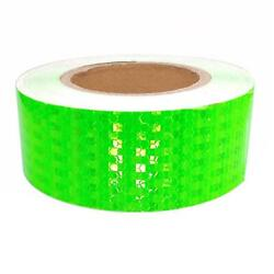Car Truck Reflective Self-adhesive Safety Warning Tape Roll Sticker Green 25m