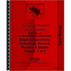 Cultivator Parts Manual For International Harvester A