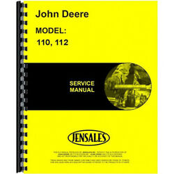 Service Manual Fits John Deere Lawn And Garden Tractor 110 112 1000001-250000