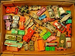 Vintage Matchbox/tootsie Toy Etc. Metal Toy Cars/trucks + Others Lot Of 40