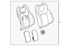 Genuine Gm Seat Back Cover 20993996