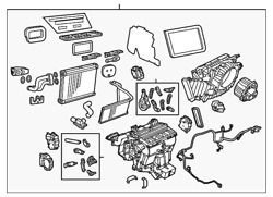 Genuine Gm Ac And Heater Assembly 92285849