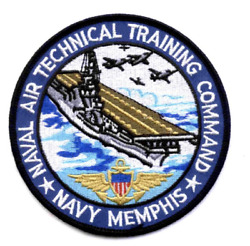 4.5 Navy Naval Air Technical Training Center Memphis Tn Embroidered Patch