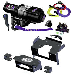 Kfi U45-r2 4500lb Wire Rope Winch And Mount Kit For Honda Talon 1000r 1000x 1000-4