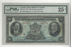 1927 Royal Bank Of Canada 20 Note Cat 630-14-10 Sn 191743 Pmg Vf 25 See Desc