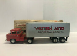 Marx Toys Western Auto Tractor And Trailer, Vintage 1960's, With Box